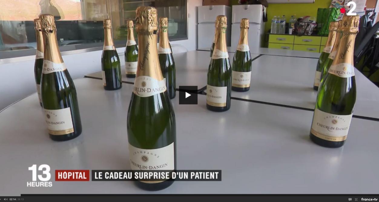 Ils lui sauvent la vie, il leur offre 60 bouteilles de champagne
