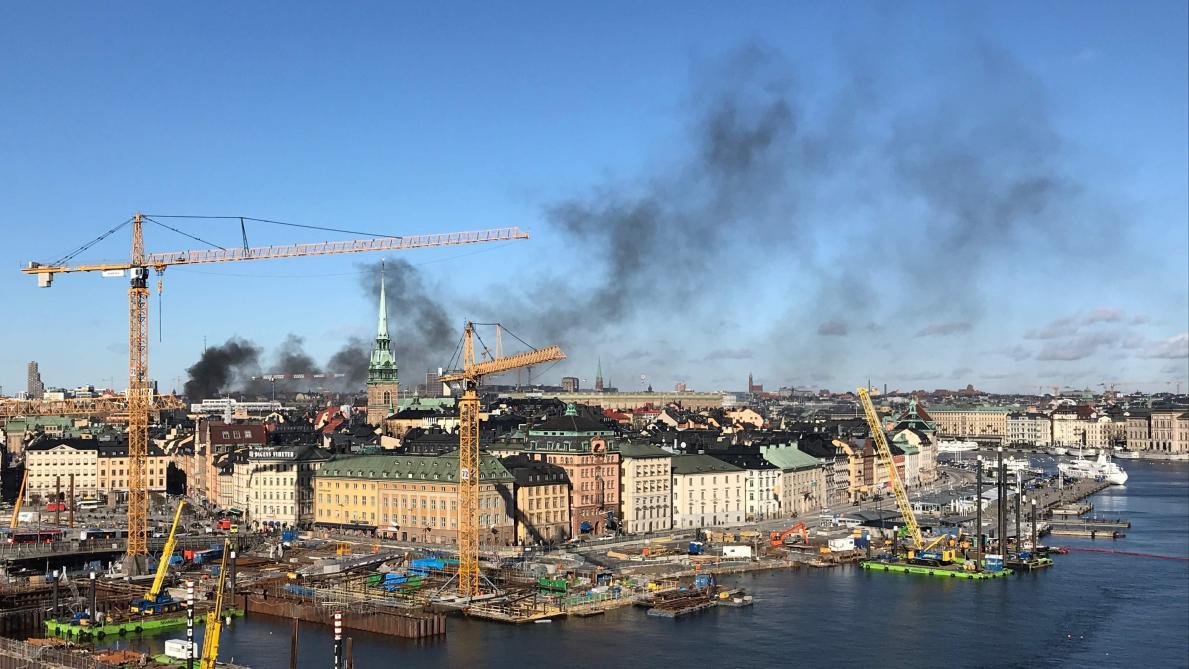 Un bus explose dans le centre de Stockholm en Suède
