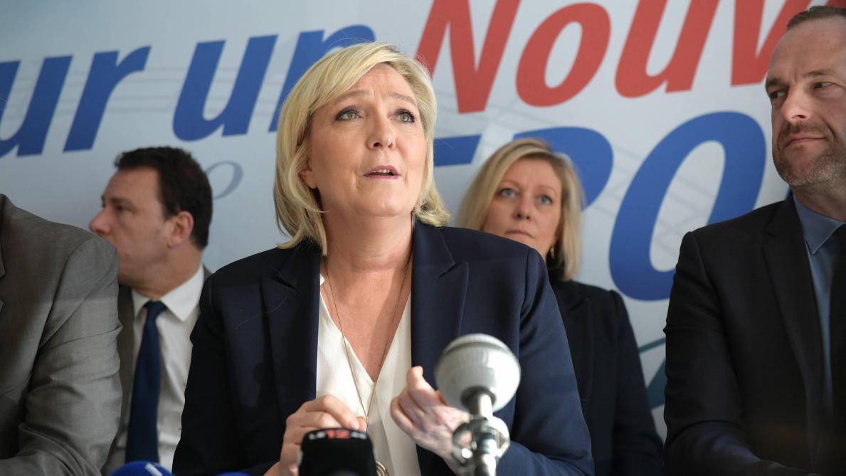 Marine Le Pen aux cotés des partis eurosceptiques — Élections européennes