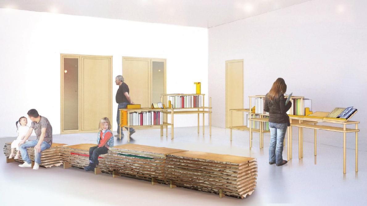 Mobilier De France Chalons En Champagne du mobilier en bois local pour la future maison du parc