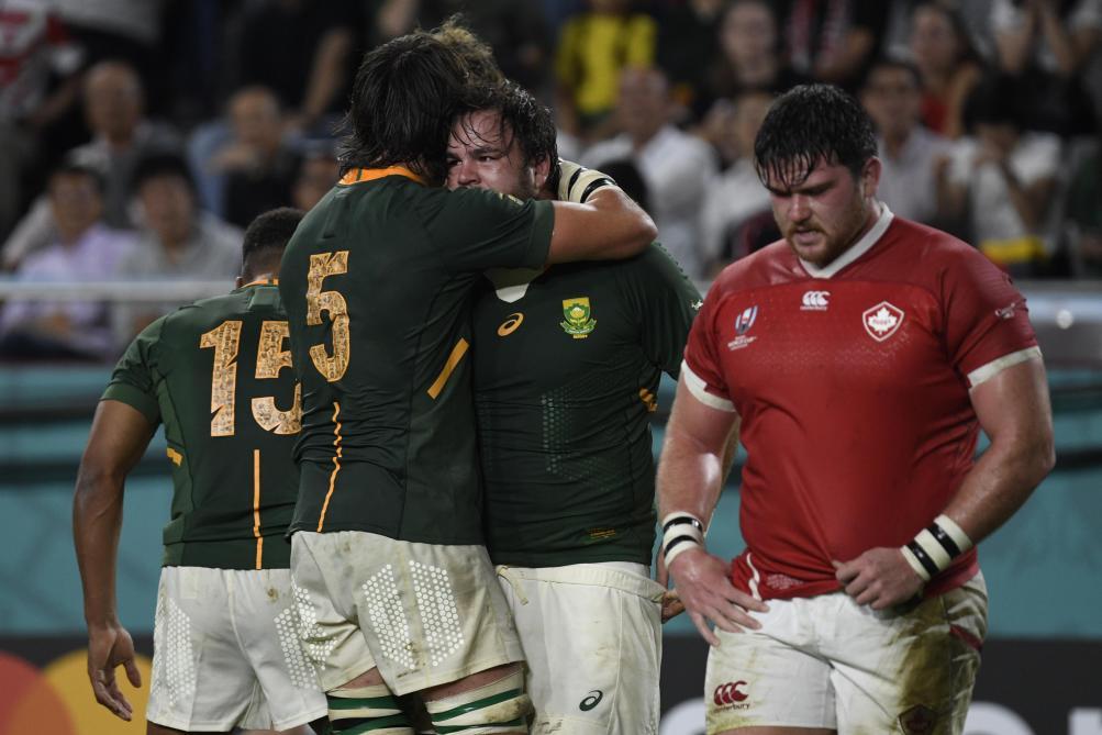 Mondial de rugby 2019: l'Afrique du Sud déroule contre le Canada
