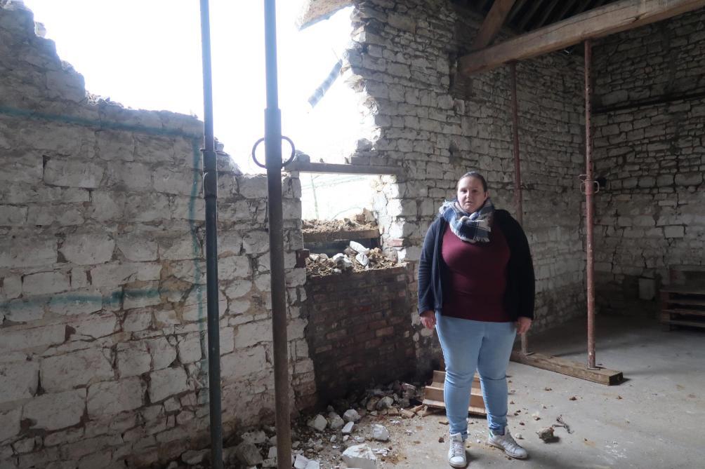 Une partie du mur d'une grange s'effondre à Montaigu, près de Laon - L'Union