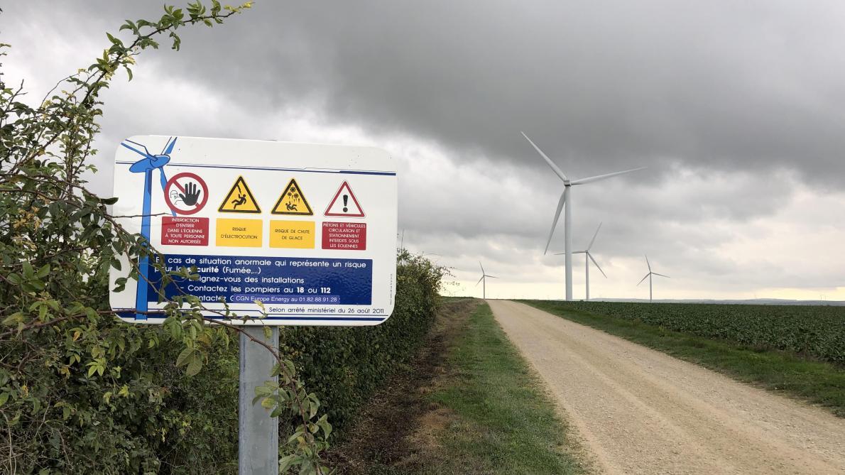 Les éoliennes concernées sont situées sur le finage des communes de Voué, Saint-Rémy-sous-Barbuise, Vaucogne et Ortillon.