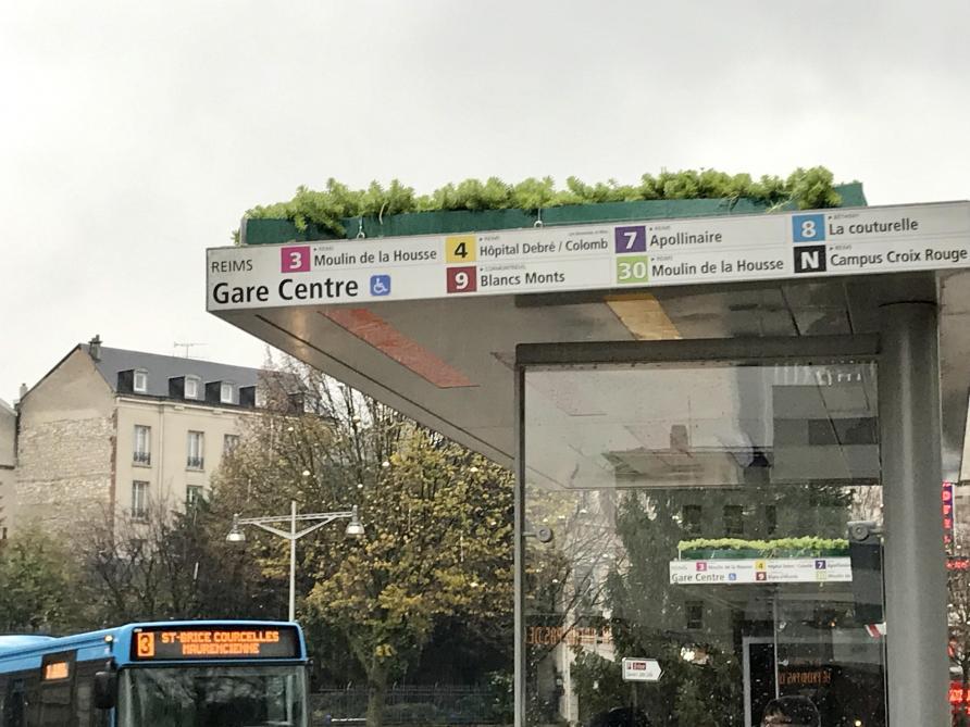 A Reims, les Abribus se mettent au vert - L'Union