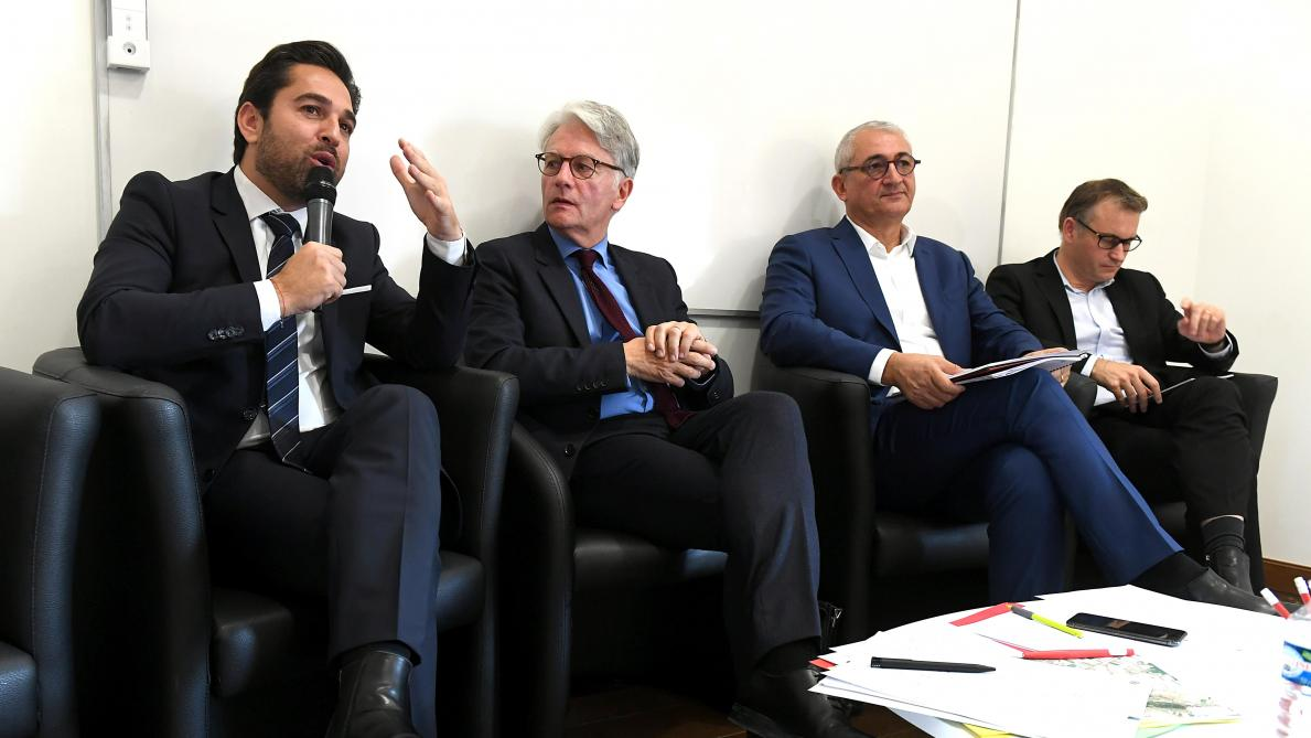 Premier débat de campagne, à Reims, entre Arnaud Robinet, Eric Quénard et Gérard Chemla - L'Union