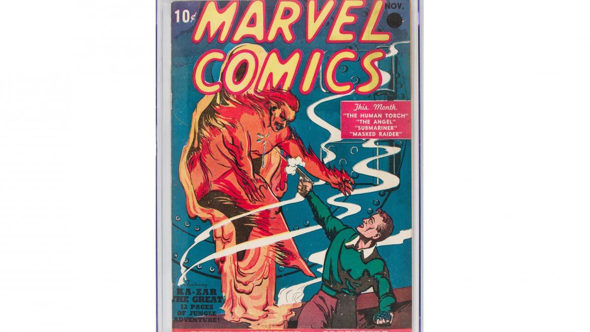 Enchères: prix record pour la toute première bande dessinée Marvel