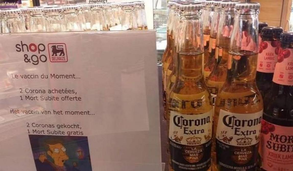 Coronavirus : «Deux Corona achetées, une Mort Subite offerte» : la promo osée d'un commerçant belge