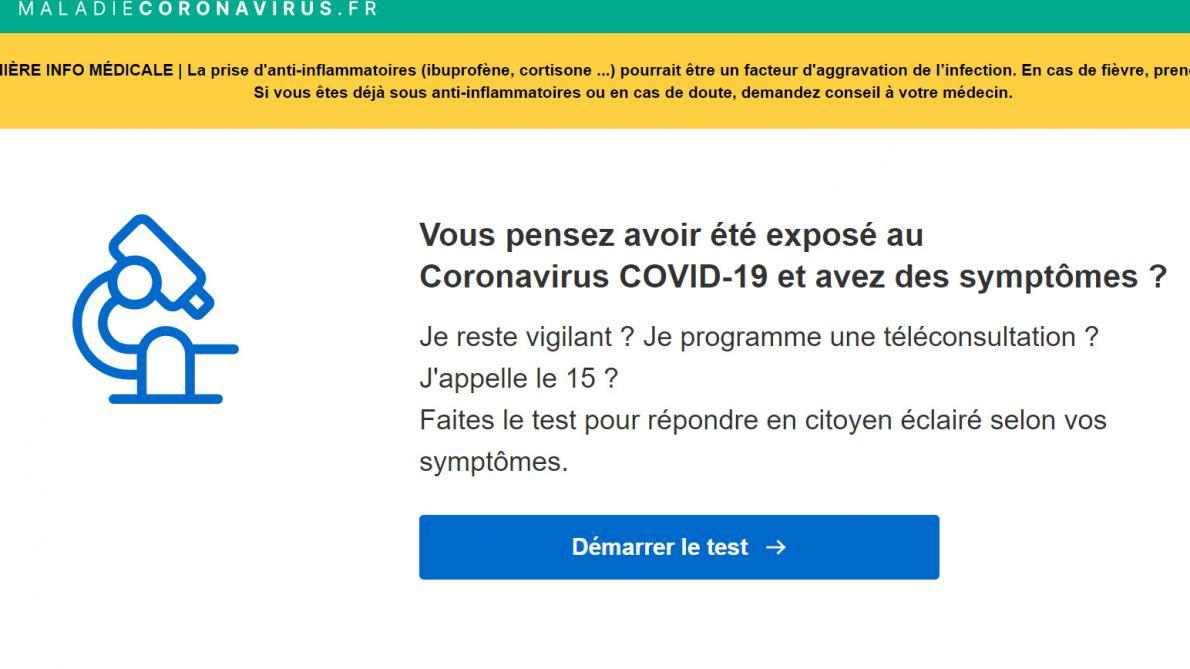 MaladieCoronavirus.fr , le site d'information certifié pour évaluer vos symptômes — Coronavirus