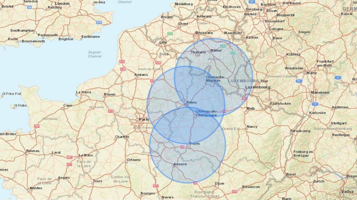 Deconfinement Visualisez La Zone Des 100 Kilometres Autour De Chez Vous Sur Une Carte
