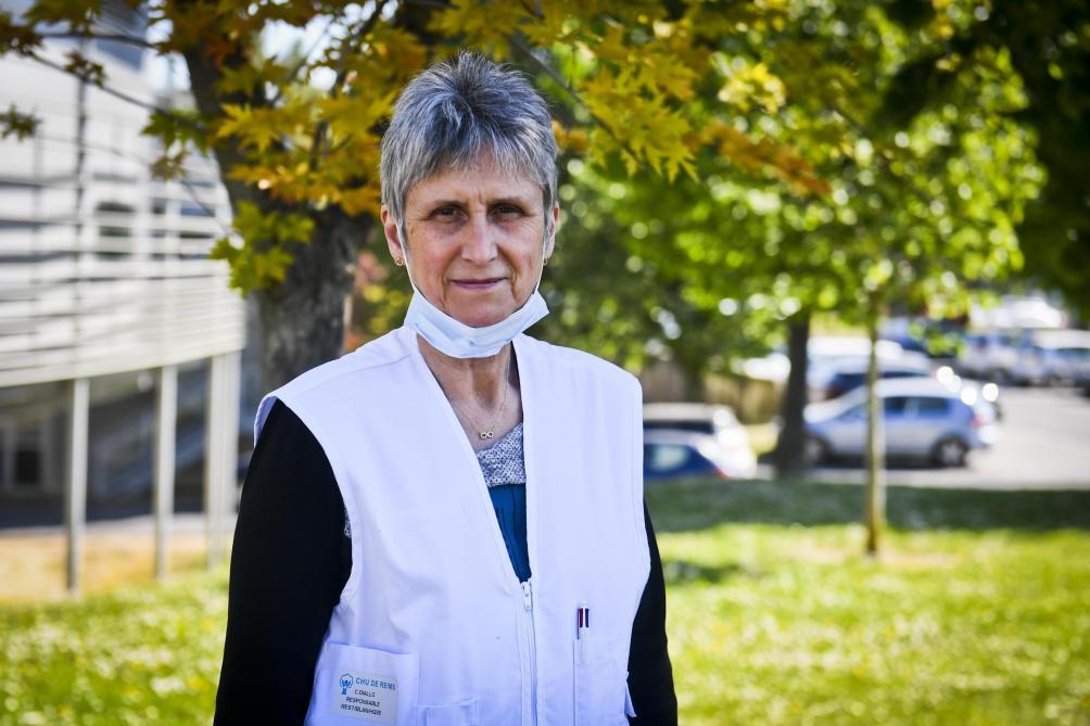 Salariée au sein du CHU depuis plus de trente ans, Catherine Diallo dirige la cellule chargée de la prise en charge des déchets.