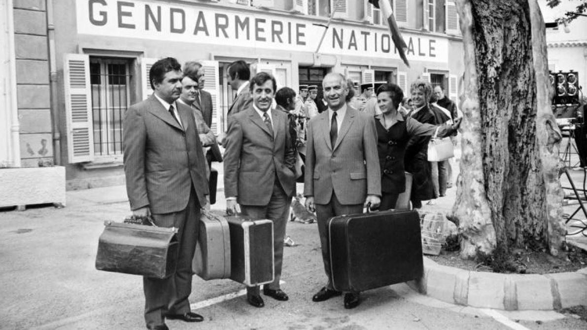 Ultime provocation pour le gendarme Cruchot: visite naturiste de l'expo De Funès