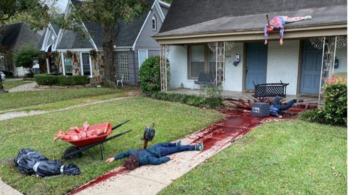 La déco de sa maison est si gore que la police débarque — Halloween